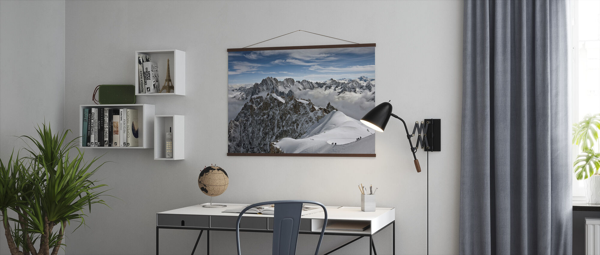 View of overlooking Alps - Poster - Office
