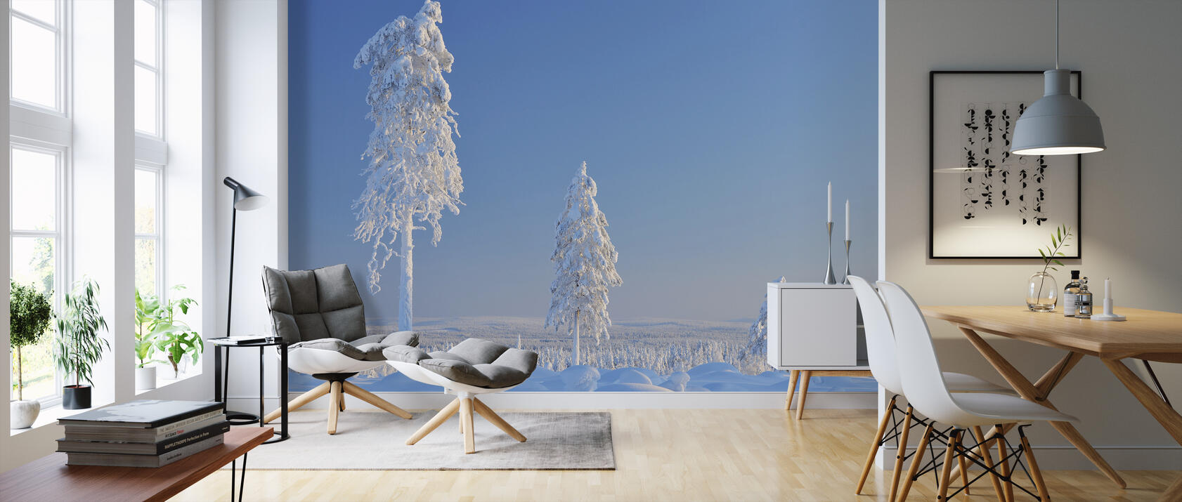 winter in finland fototapete nach ma photowall. Black Bedroom Furniture Sets. Home Design Ideas
