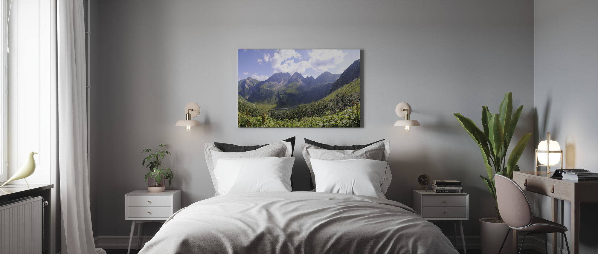 Allgaeu Alps - Canvas print - Bedroom