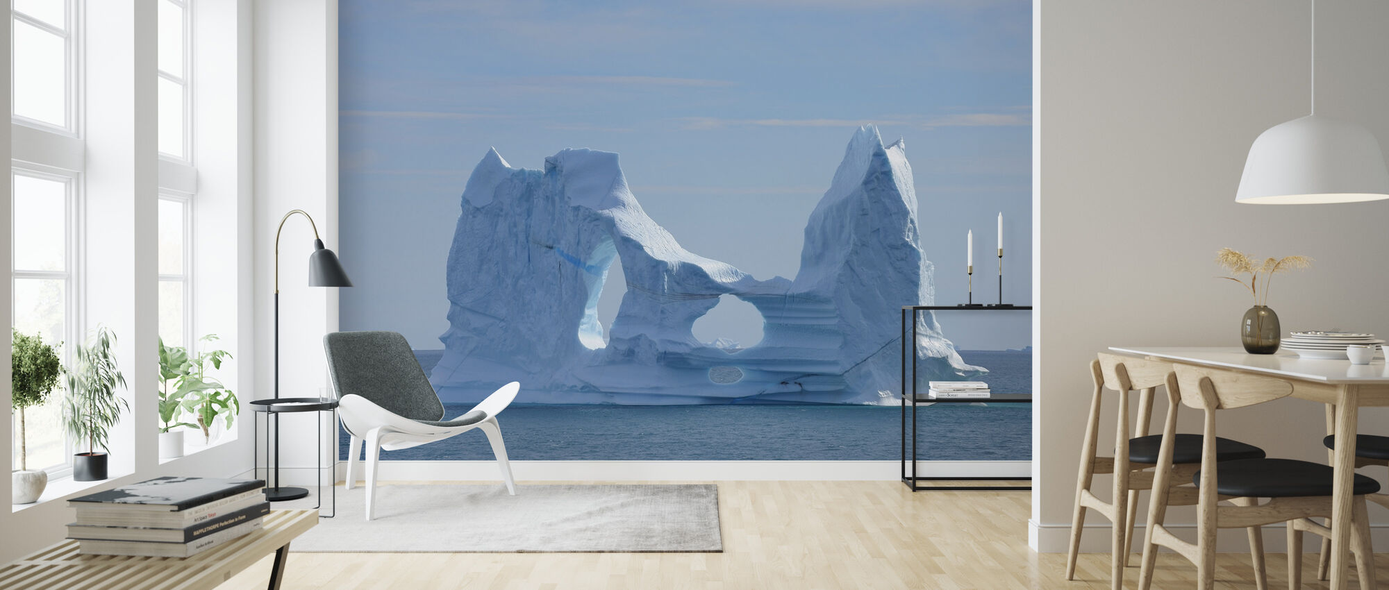 Floating Greenland - Wallpaper - Living Room