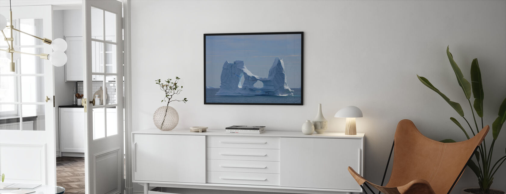 Floating Greenland - Framed print - Living Room