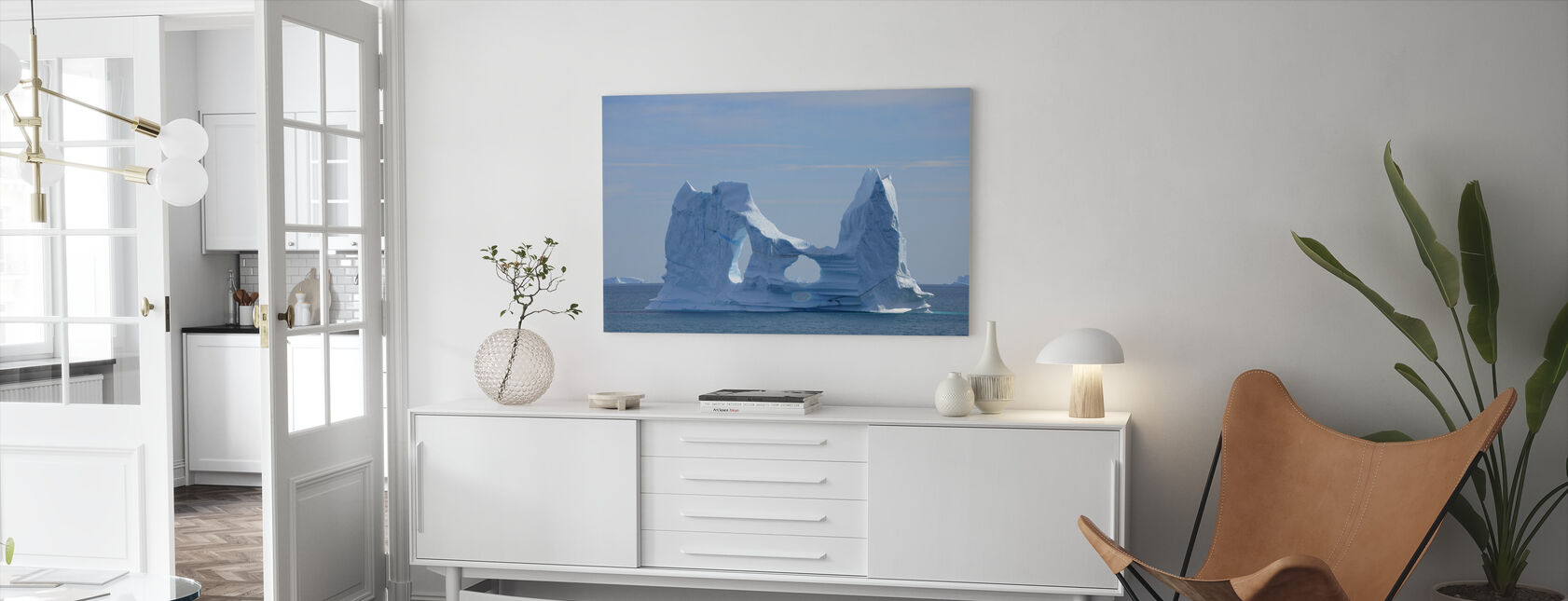Floating Greenland - Canvas print - Living Room
