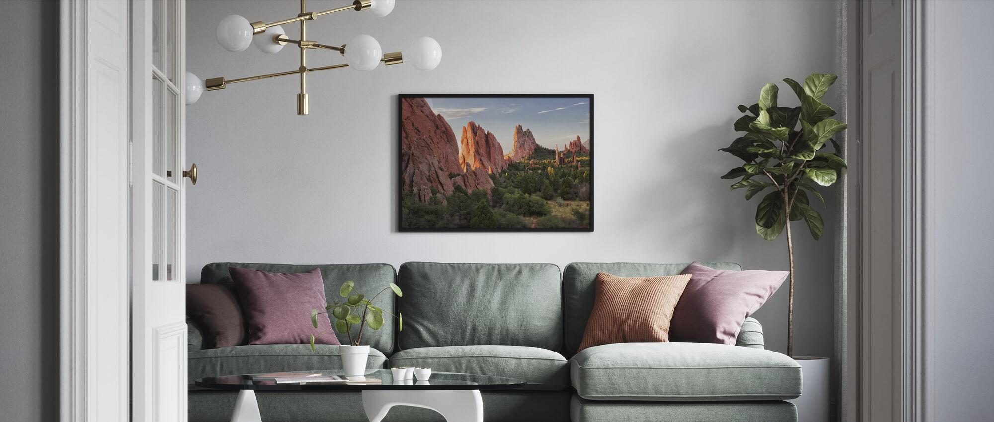 Puutarha Jumalten, Colorado Springs - Kehystetty kuva - Olohuone