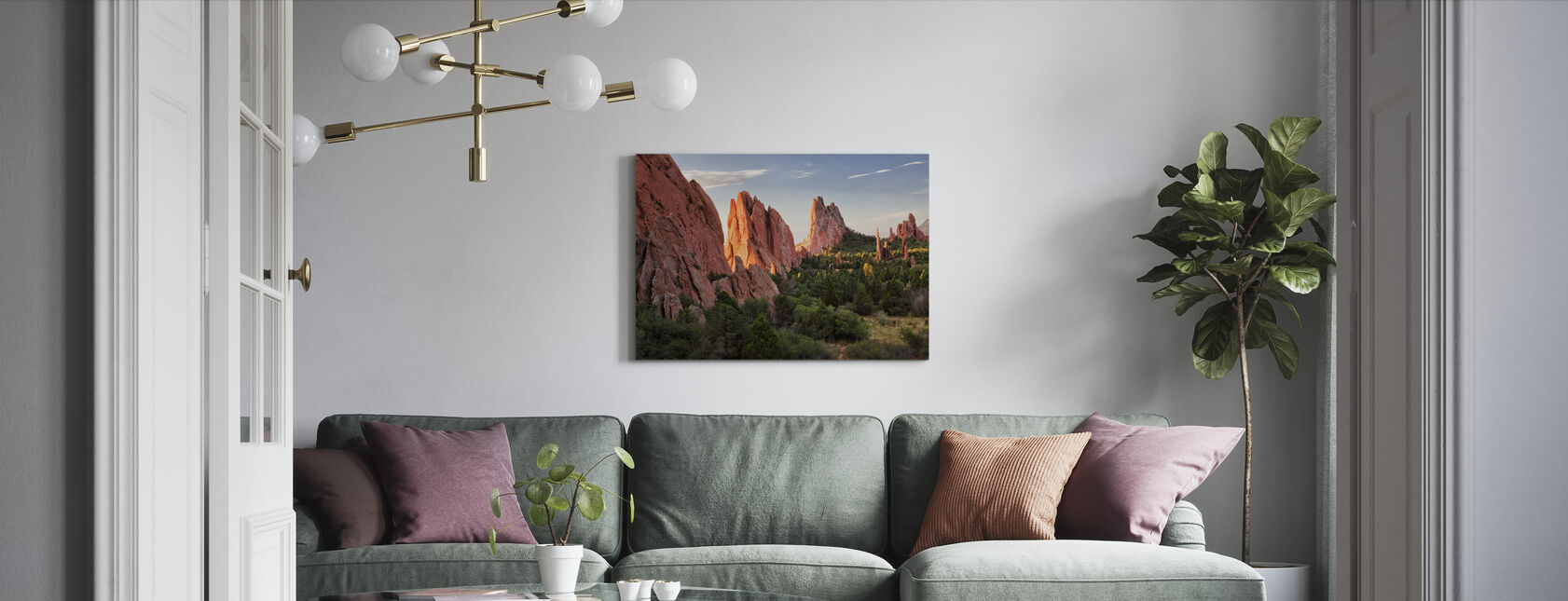 Garden of Goden, Colorado Springs - Canvas print - Woonkamer