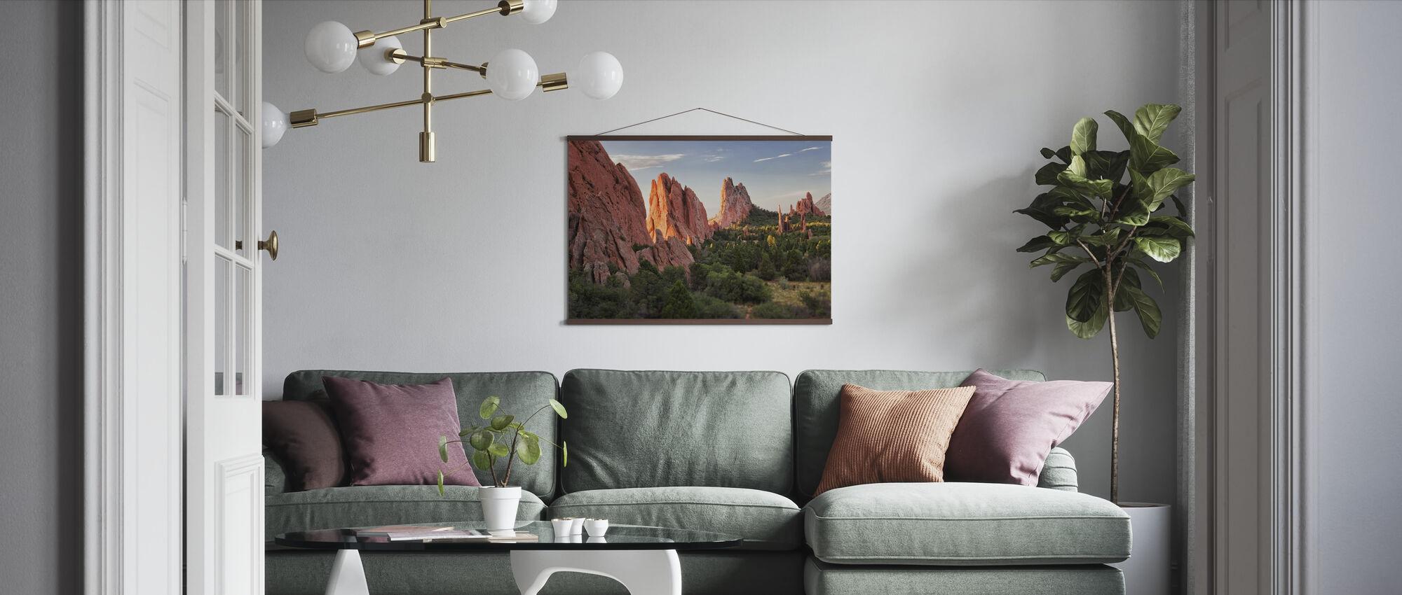 Garden of Gods, Colorado Springs - Poster - Living Room