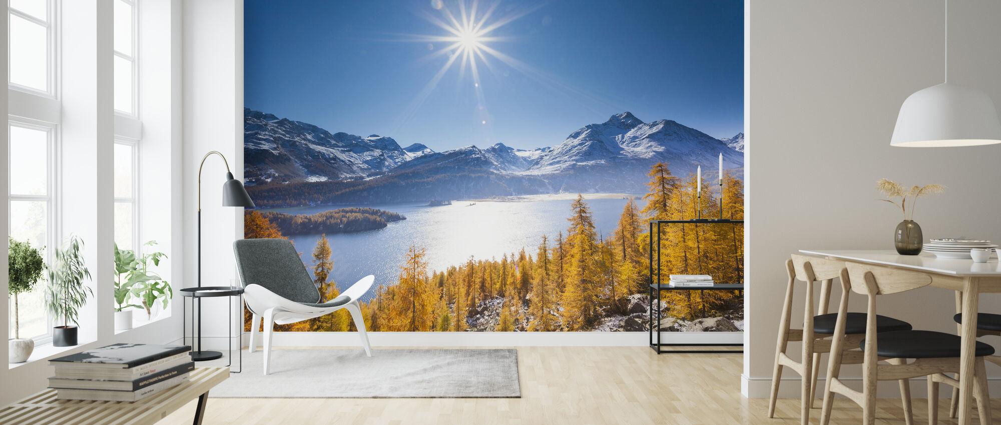 Graubunden, Switzerland - Wallpaper - Living Room