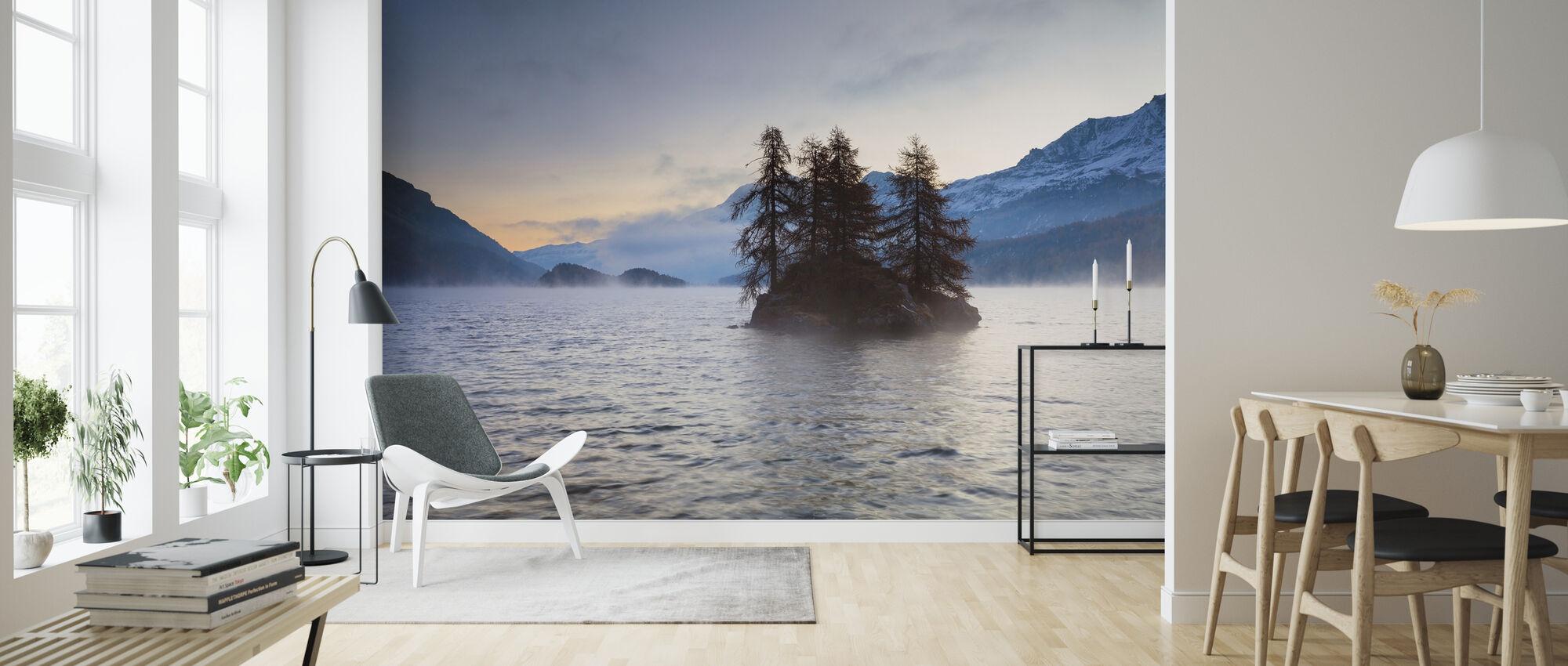 Island in Lake Sils - Wallpaper - Living Room