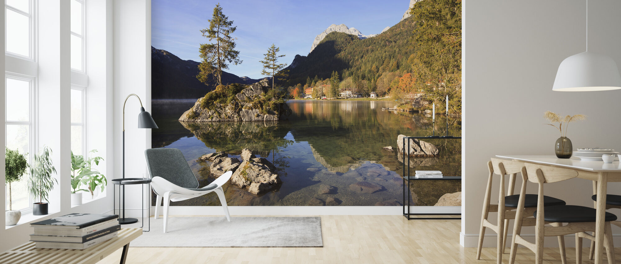 Lake Hintersee - Wallpaper - Living Room