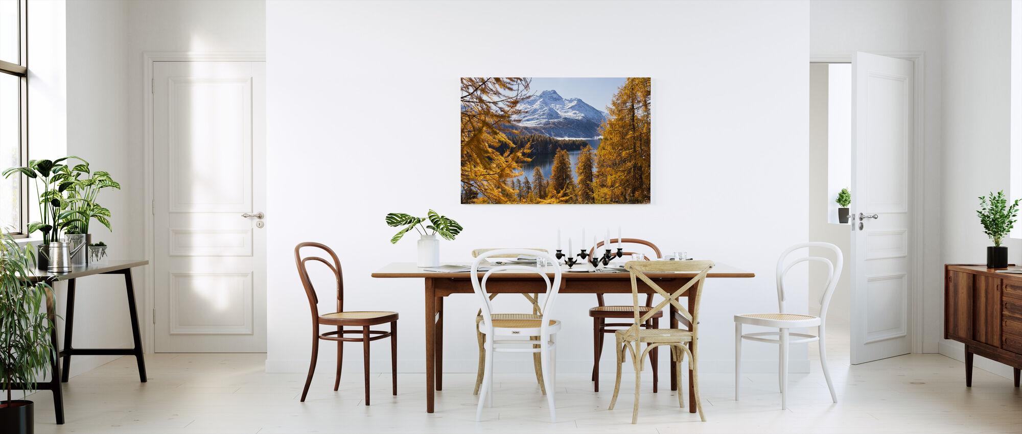 Swiss Larch Trees - Canvas print - Kitchen
