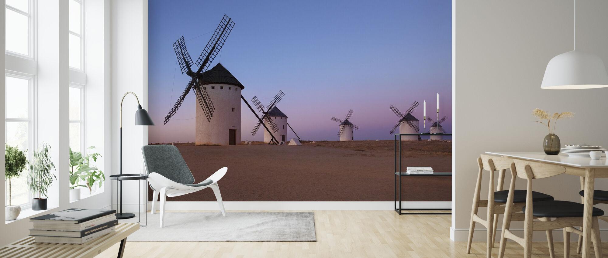 Windmolens van La Mancha - Behang - Woonkamer