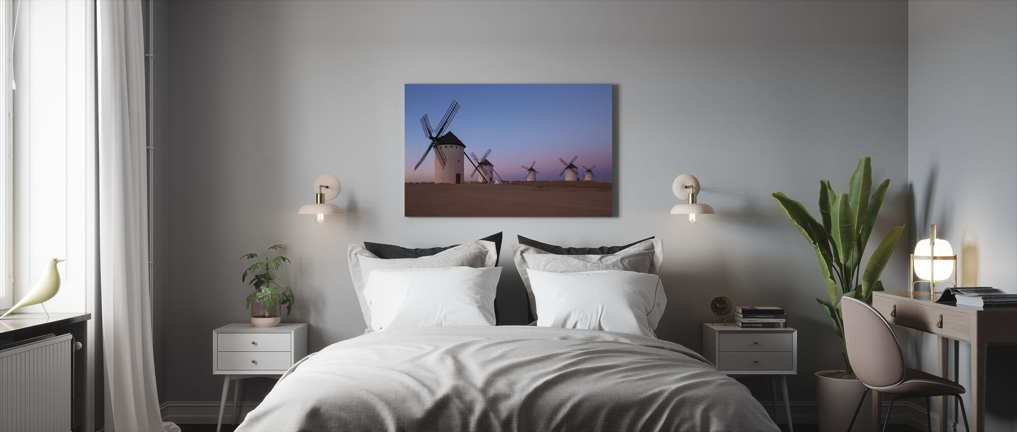 Windmills of La Mancha - Canvas print - Bedroom