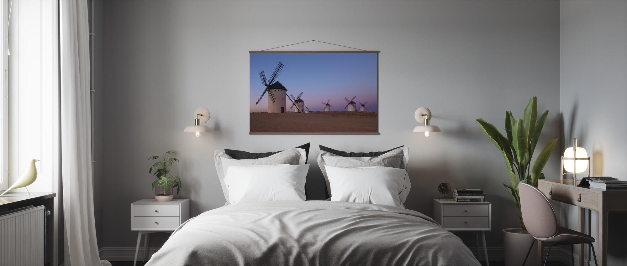 Windmolens van La Mancha - Poster - Slaapkamer