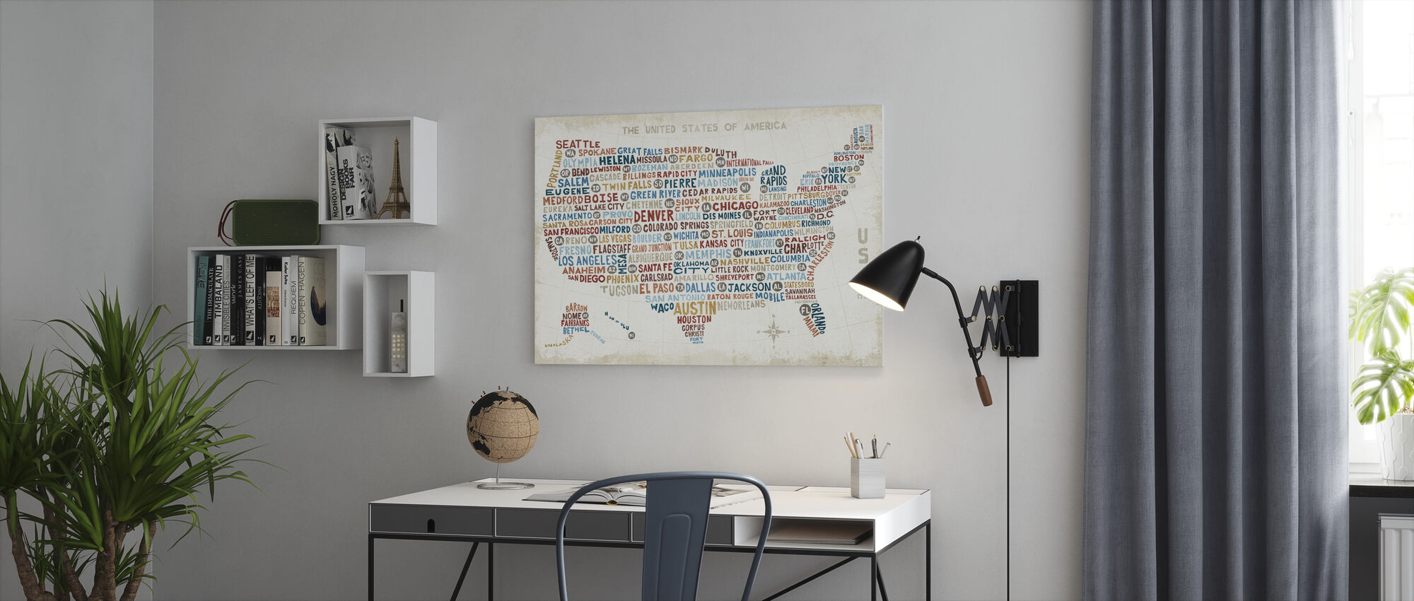 US City Map - Canvas print - Office