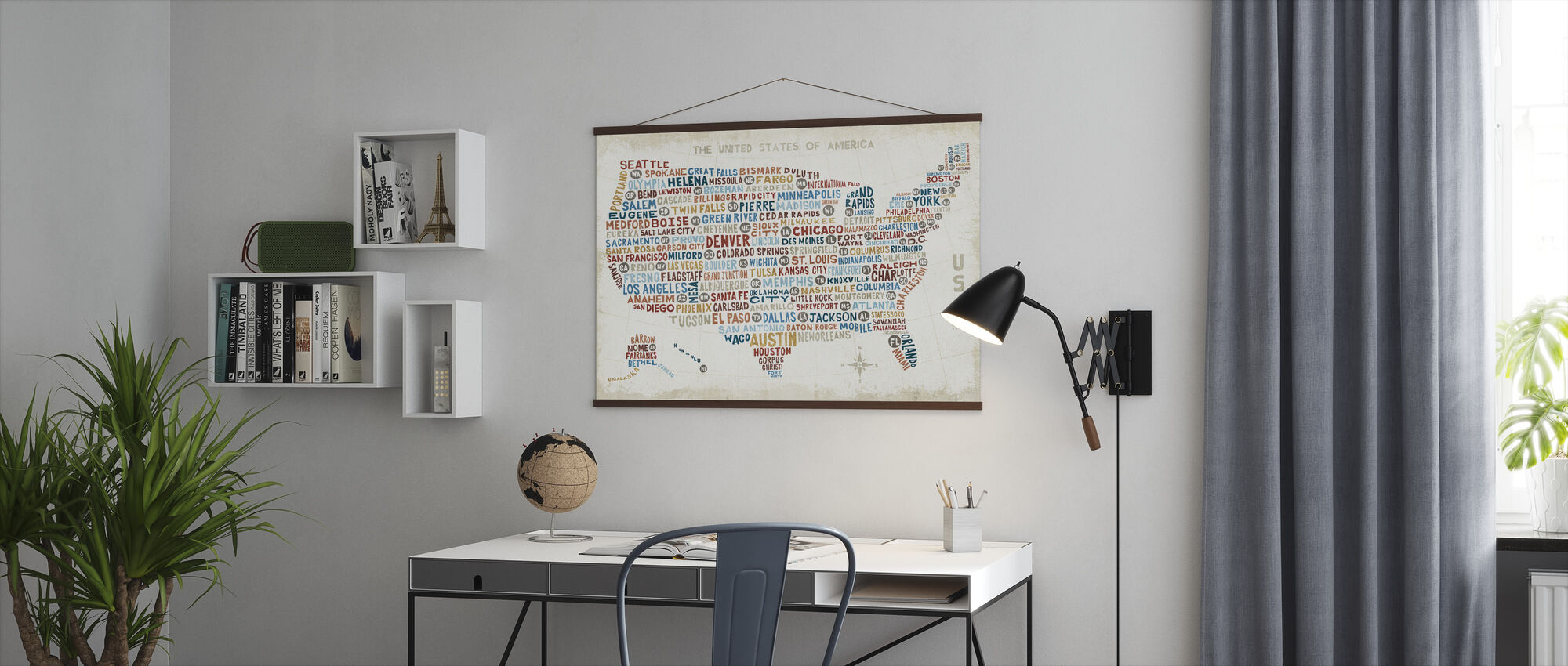 US City Map - Poster - Office