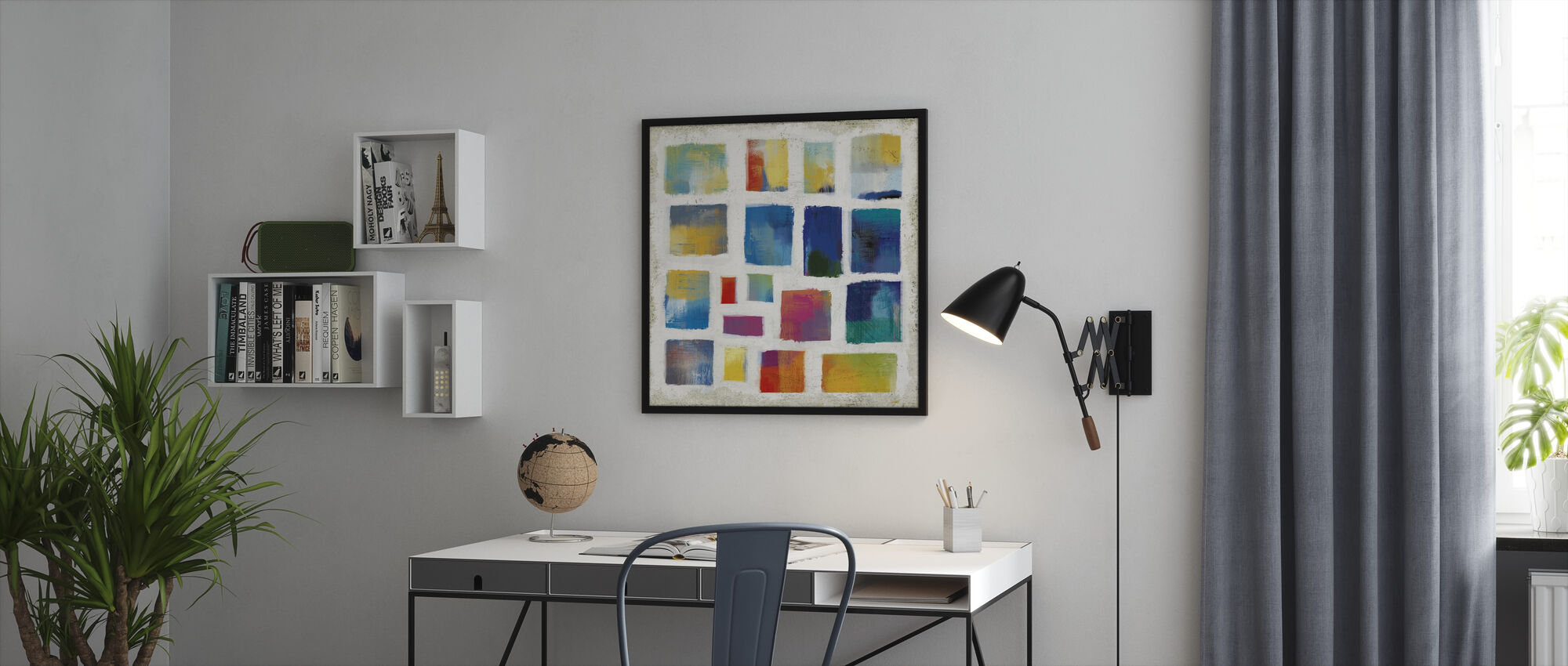 Vibrations Square - Framed print - Office