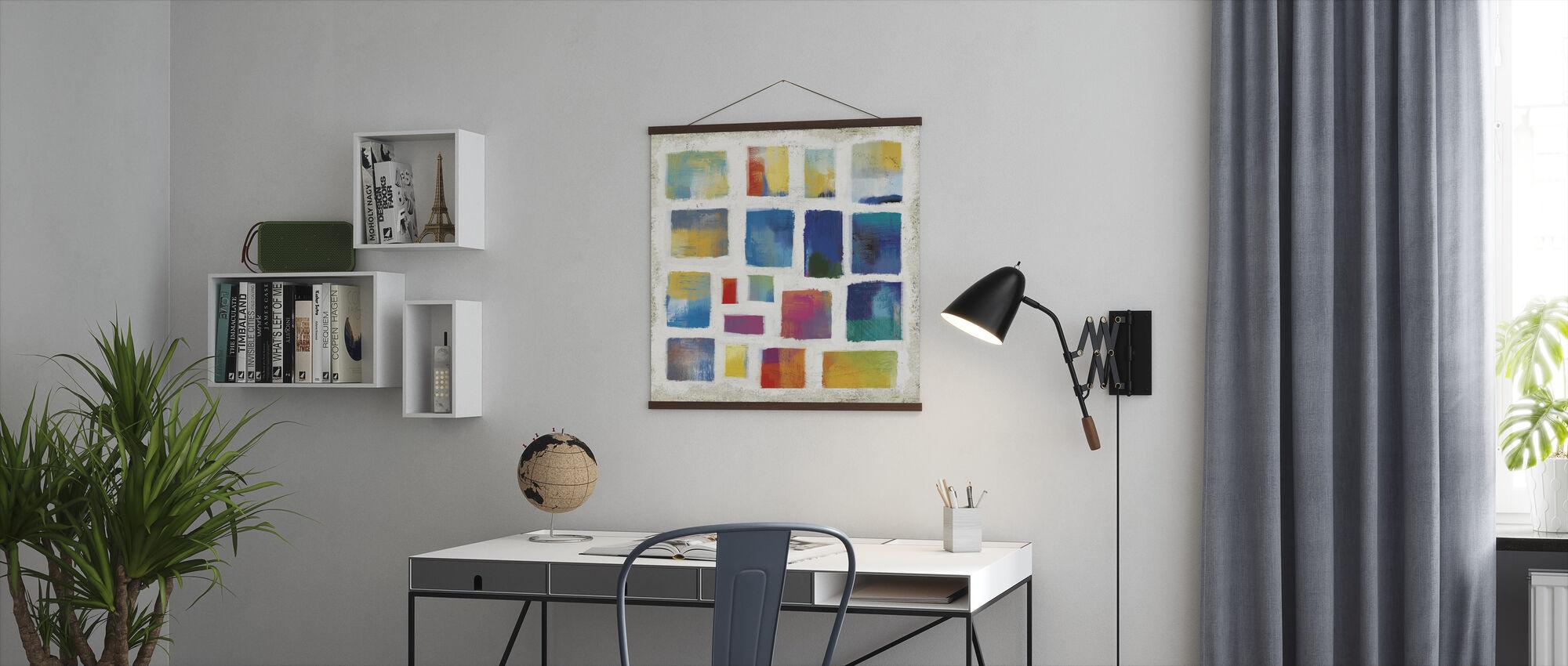 Vibrations-Quadrat - Poster - Büro