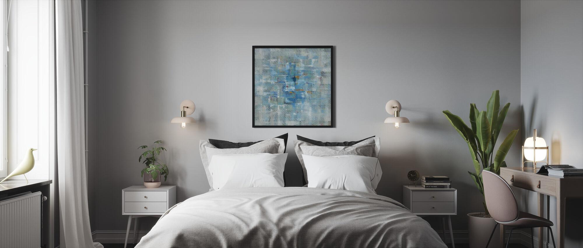Abstrakta rutor - Inramad tavla - Sovrum