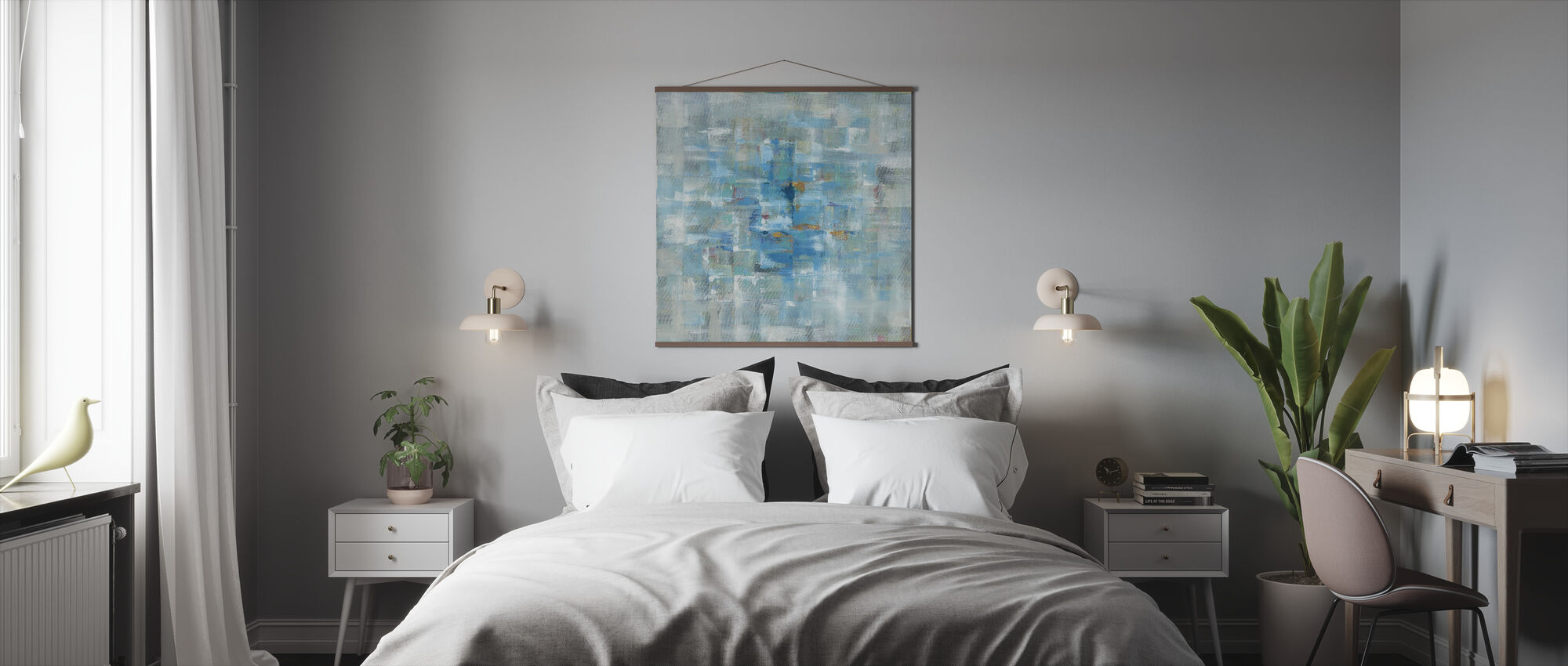 Abstract Squares - Poster - Bedroom