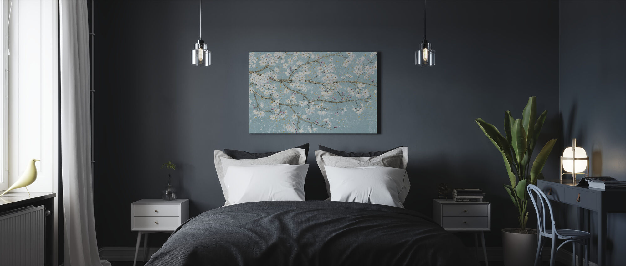 April Breeze I Teal - Canvas print - Slaapkamer