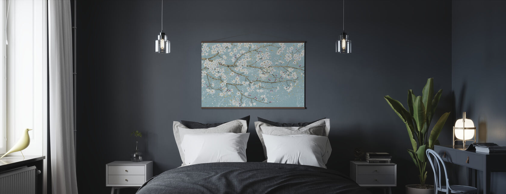 April Breeze I Teal - Poster - Bedroom