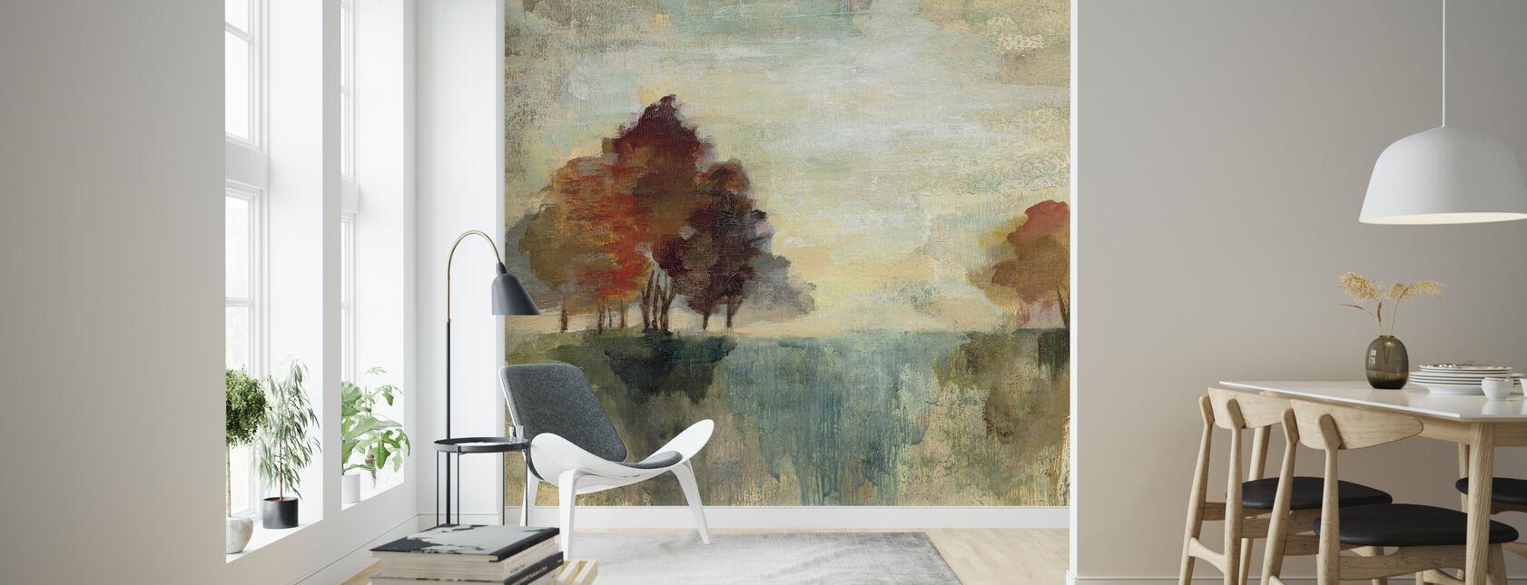 Landskap Monotyp - Tapet - Vardagsrum