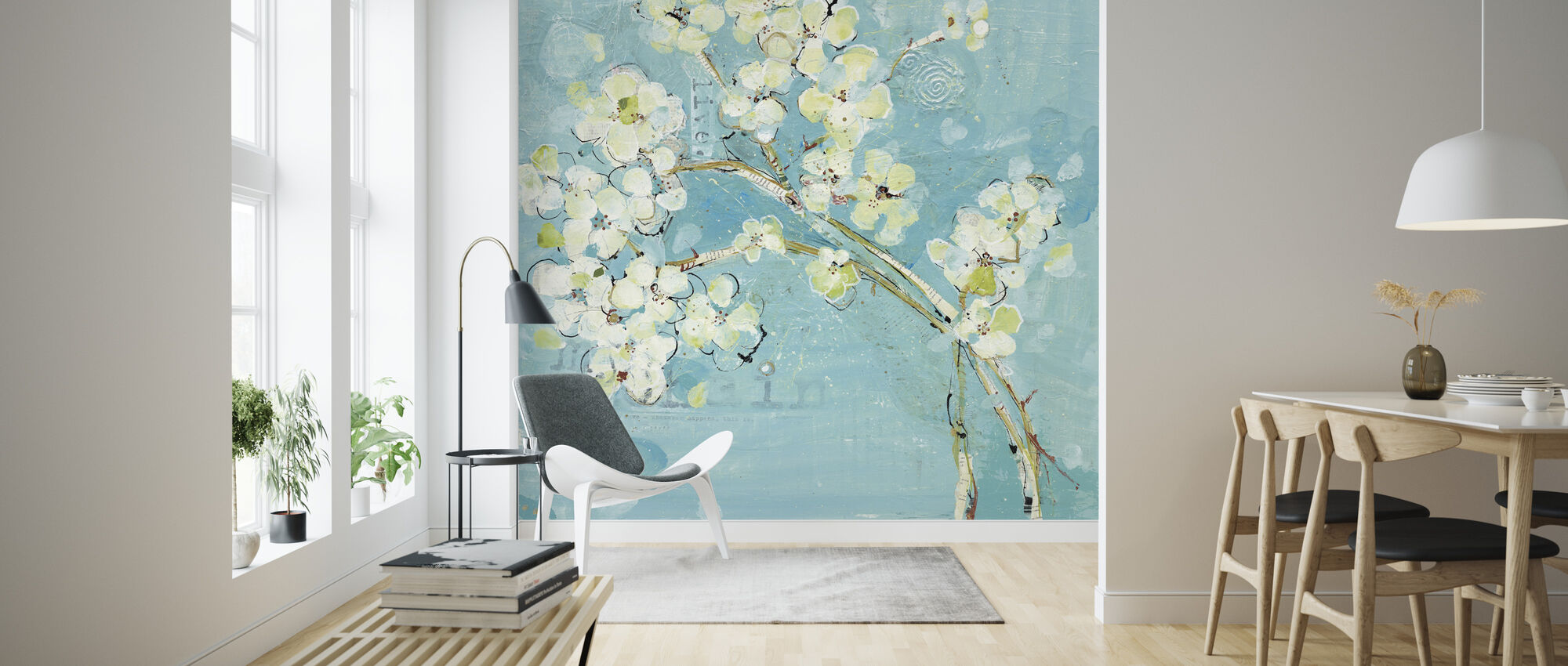 Live Turquoise - Wallpaper - Living Room