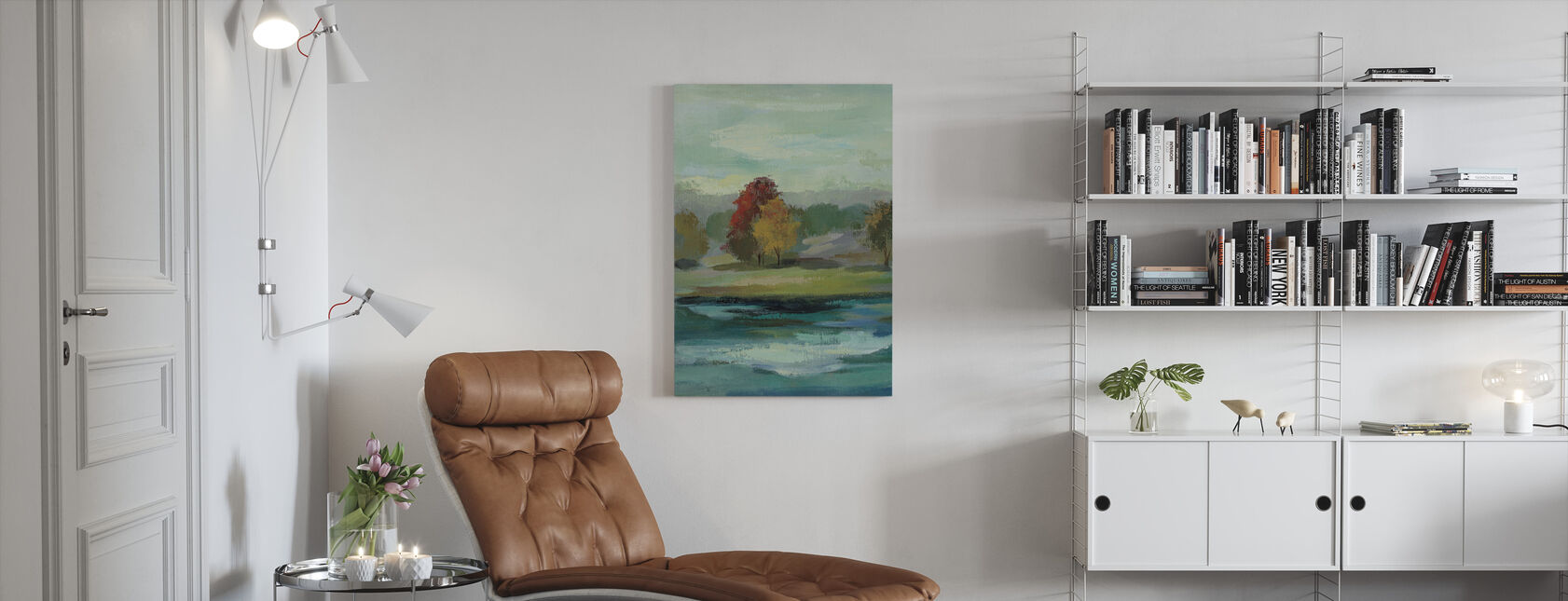 Malakitt innsjø - Lerretsbilde - Stue