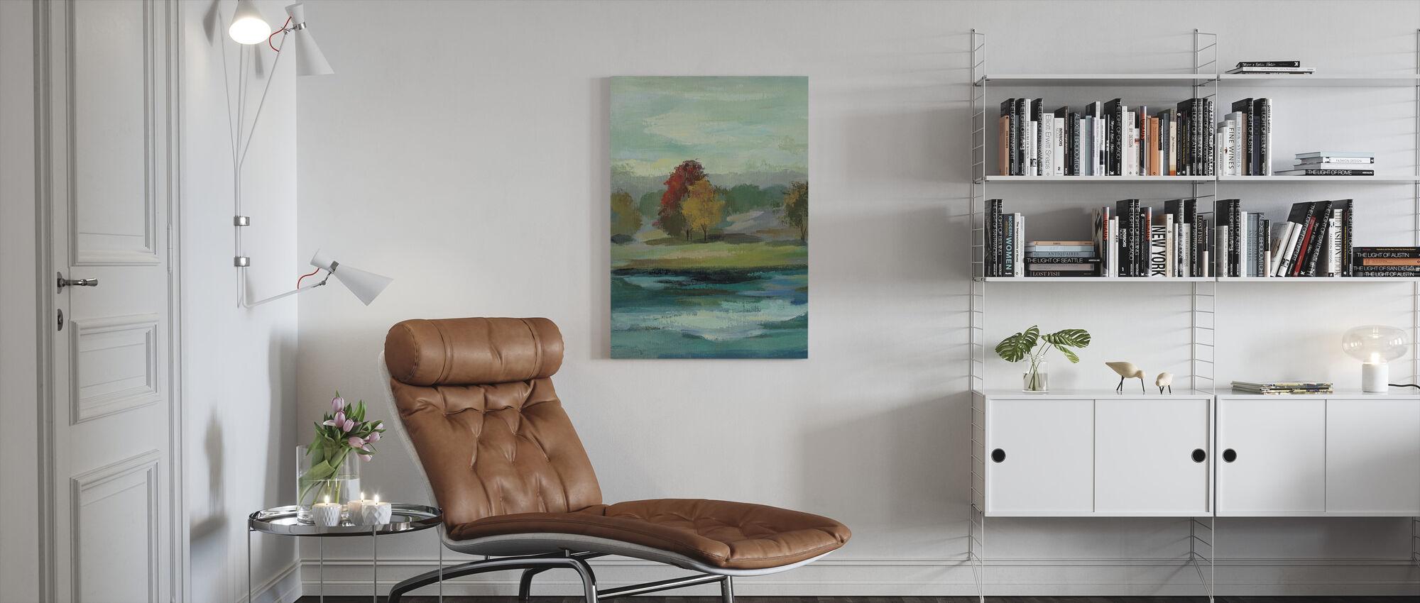 Malachite Lake - Canvas print - Living Room
