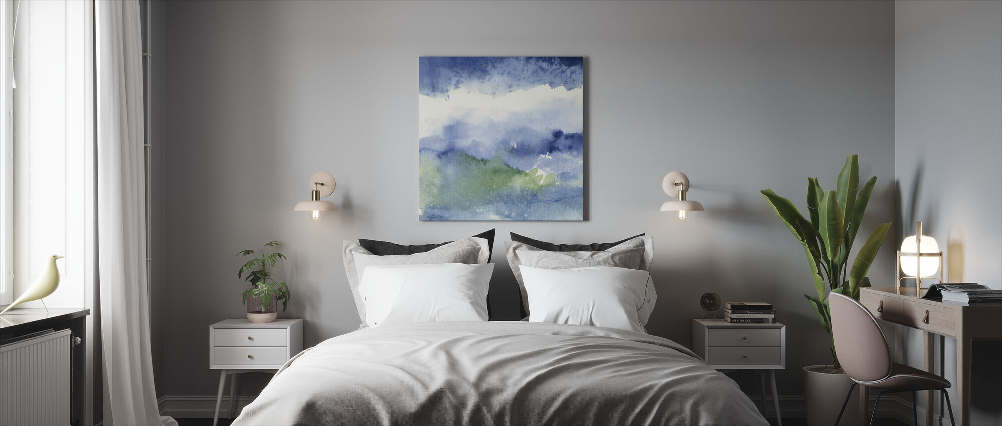 Midnight at the Lake 2 - Canvas print - Bedroom