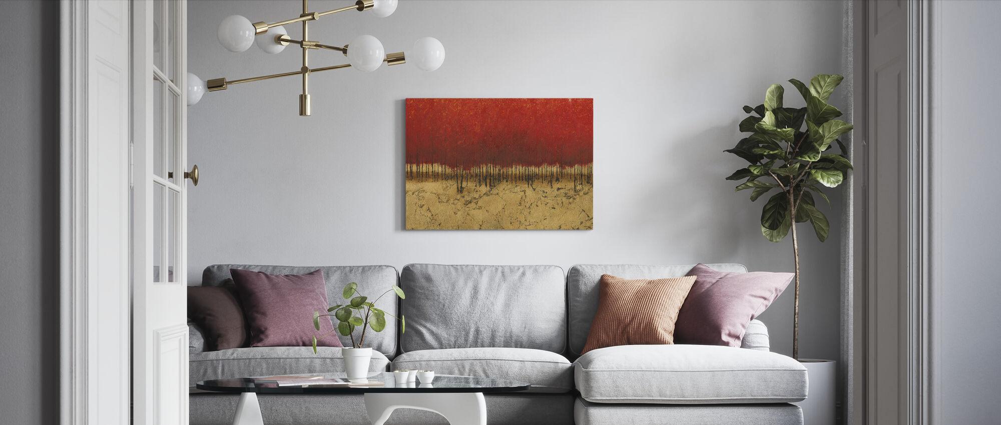 Oranssi puut - Canvastaulu - Olohuone