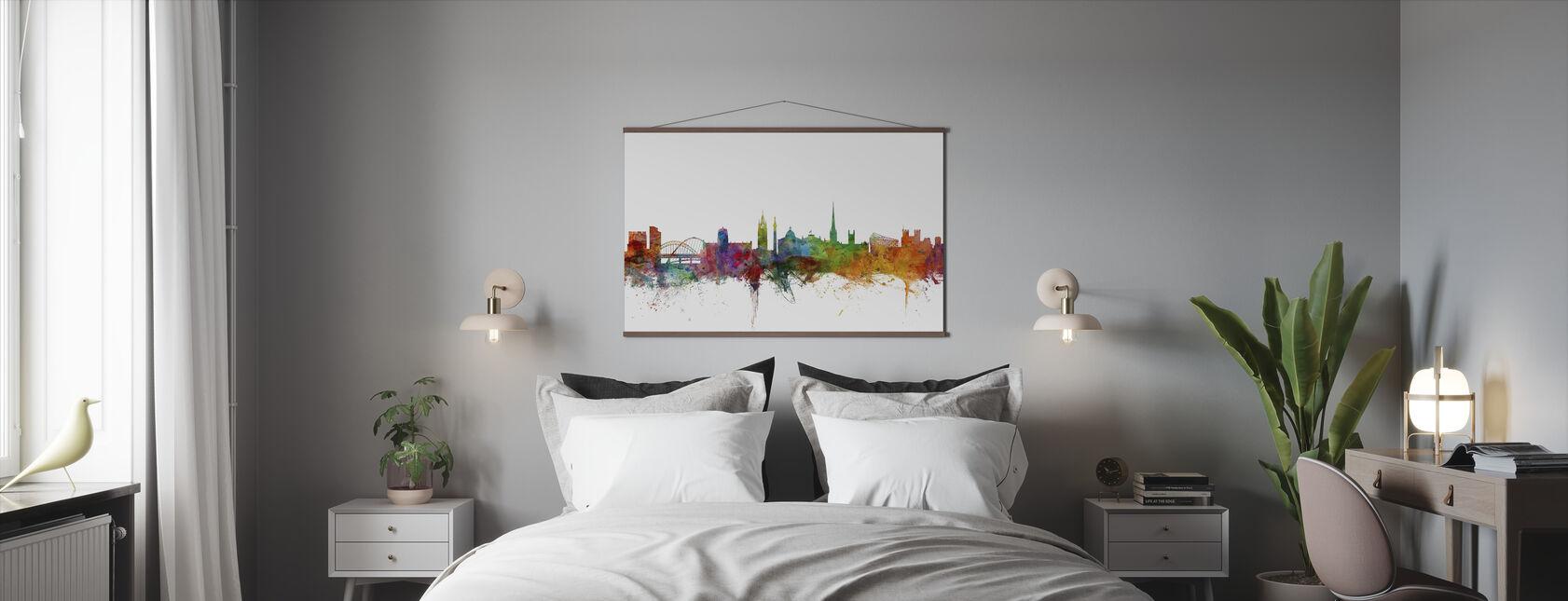 Newcastle England Skyline - Poster - Bedroom