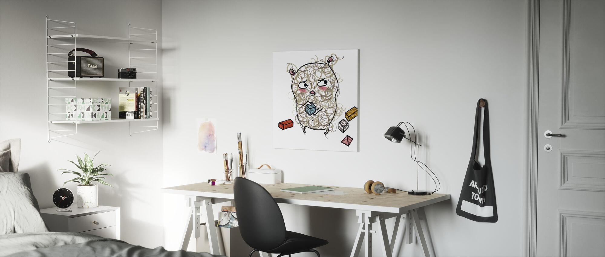 Whose blocks - Canvas print - Kids Room