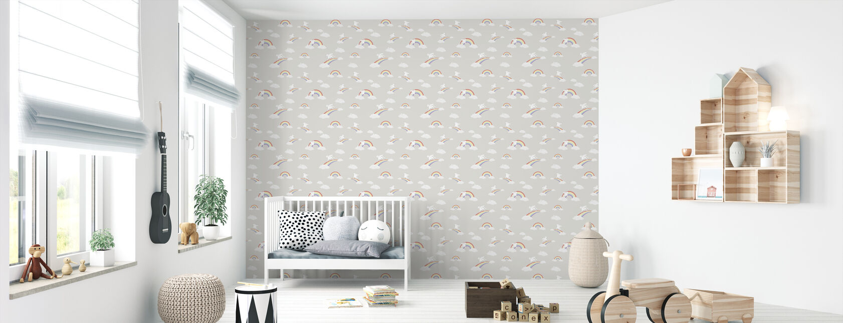 Unicorns & Rainbows - Wallpaper - Nursery