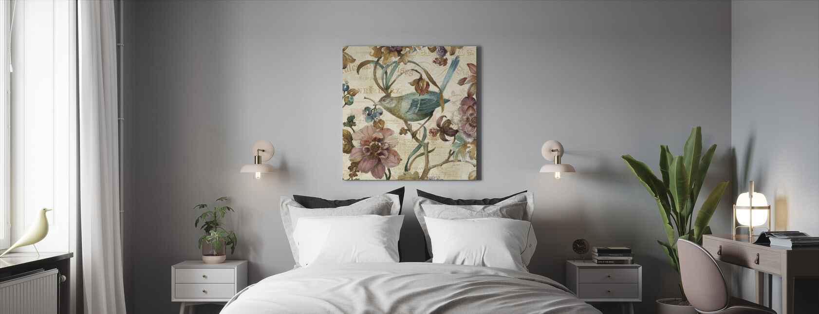 A Garden Moment 2 - Canvas print - Bedroom