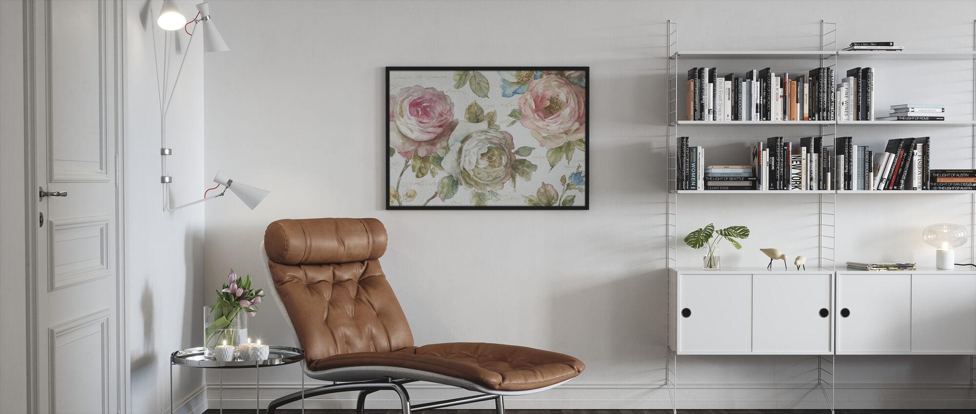Poeme DAmour - Framed print - Living Room
