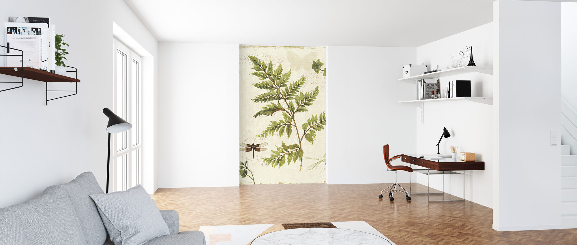 Ivies and Ferns - Wallpaper - Office