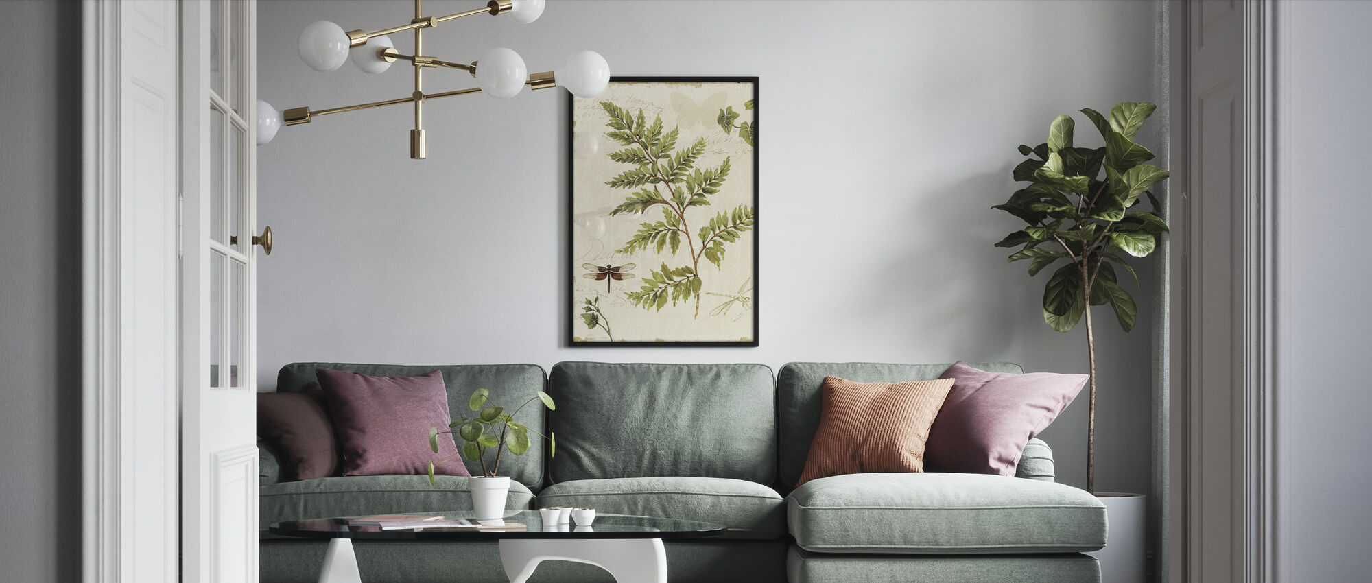 Ivies and Ferns - Framed print - Living Room
