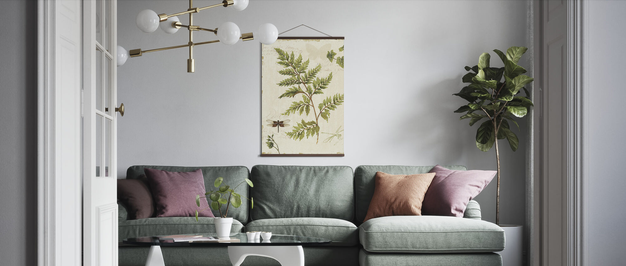 Ivies and Ferns - Poster - Living Room