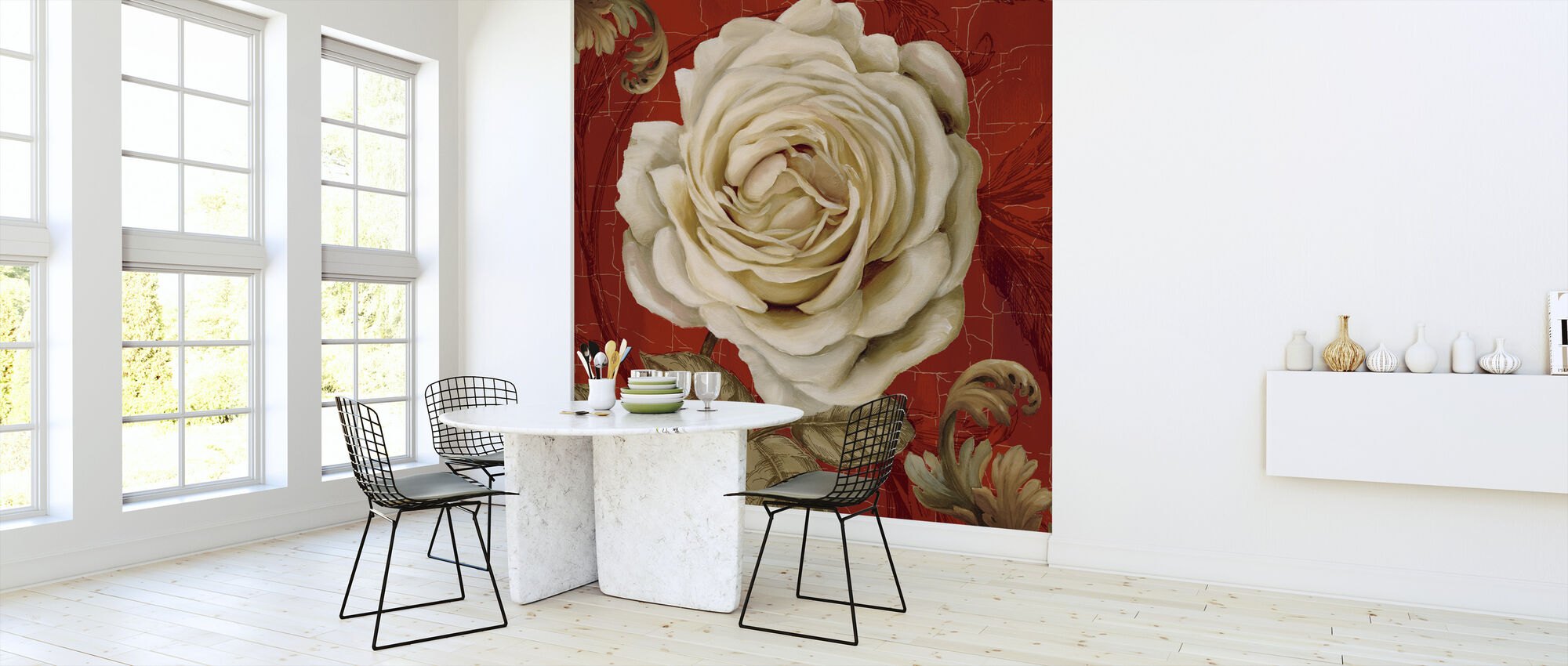 Red Bourgeoisie 2 - Wallpaper - Kitchen