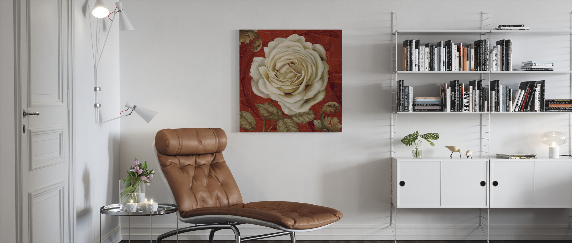 Red Bourgeoisie 2 - Canvas print - Living Room