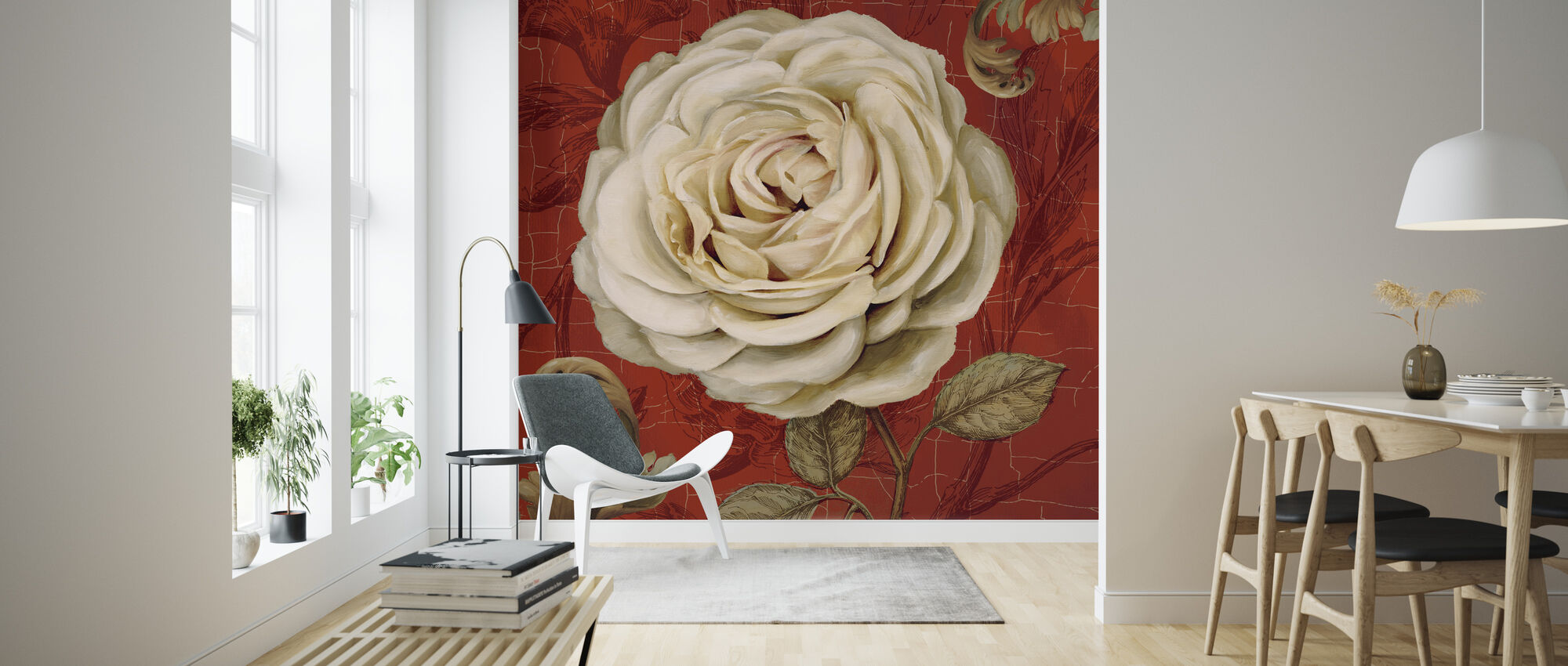 Red Bourgeoisie - Wallpaper - Living Room