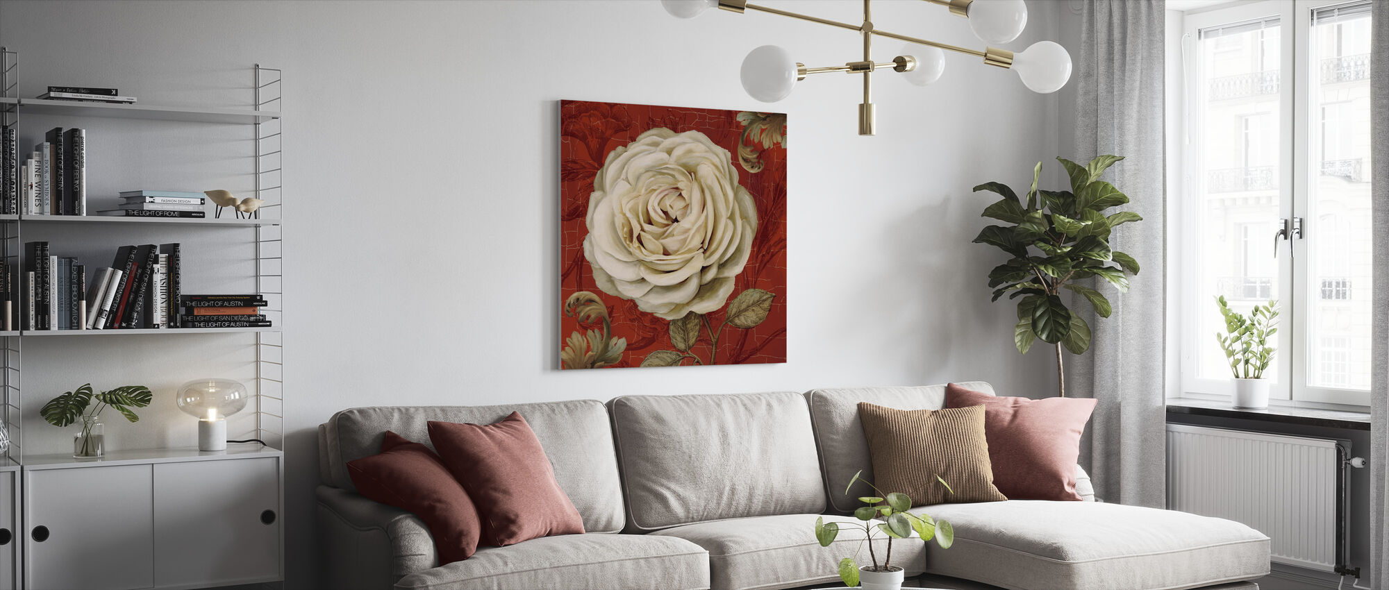 Red Bourgeoisie - Canvas print - Living Room
