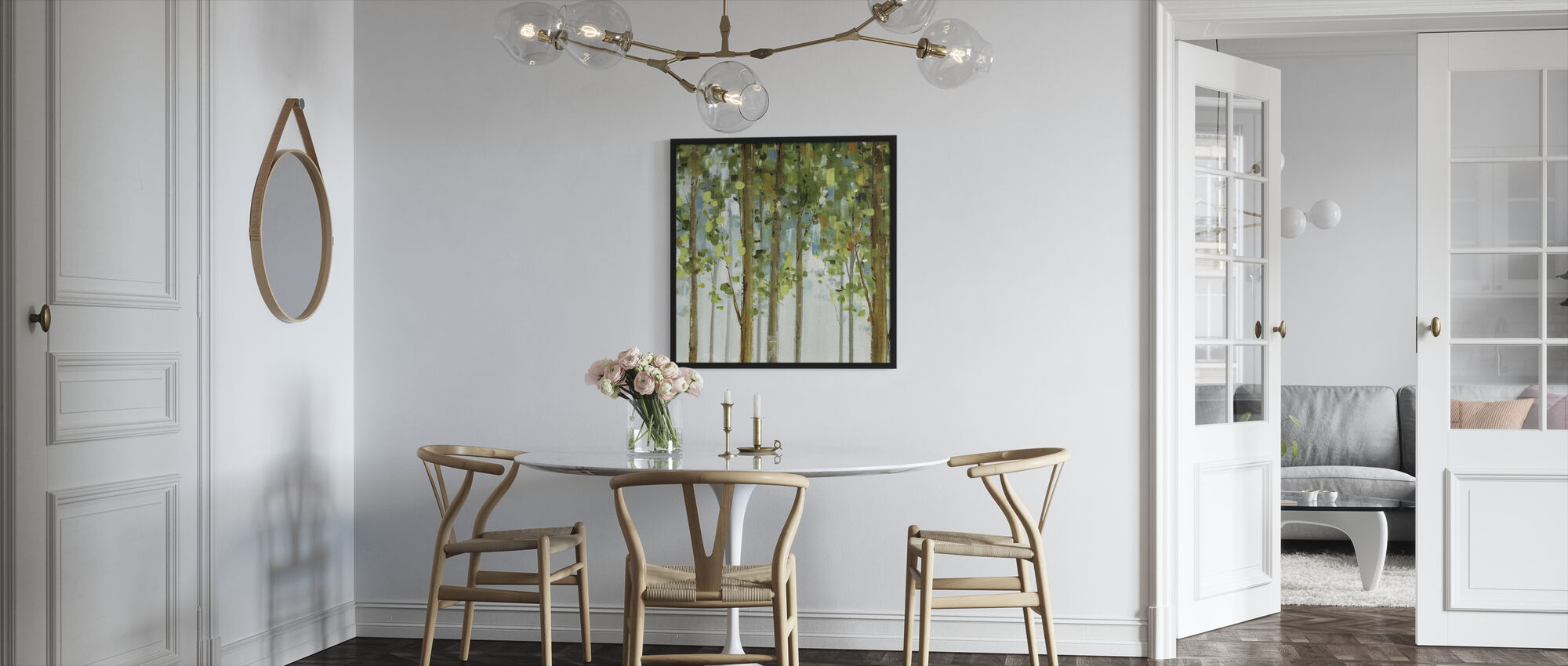 Skogstudie - Innrammet bilde - Kjøkken