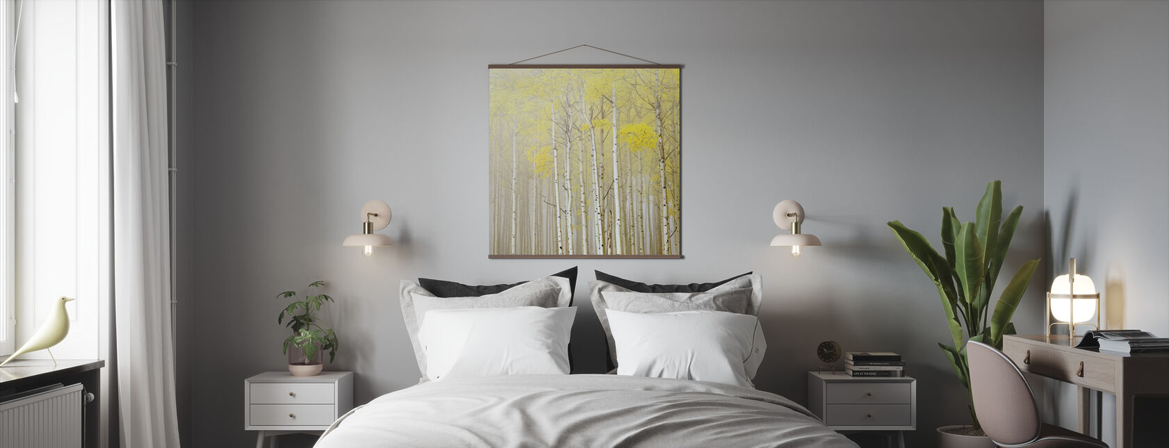 Aspens in Fog - Poster - Bedroom