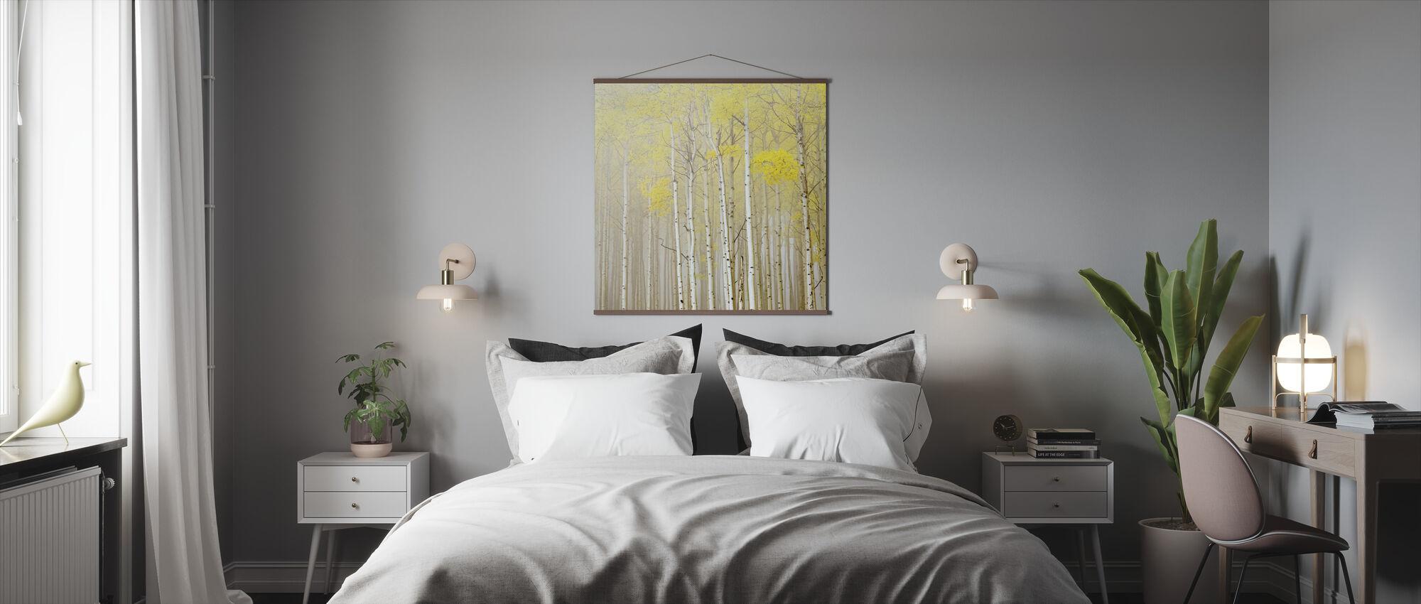 Aspens in Fog - Poster - Bedroom