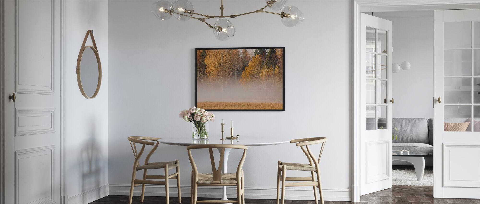 Fog and Fall Colors - Framed print - Kitchen
