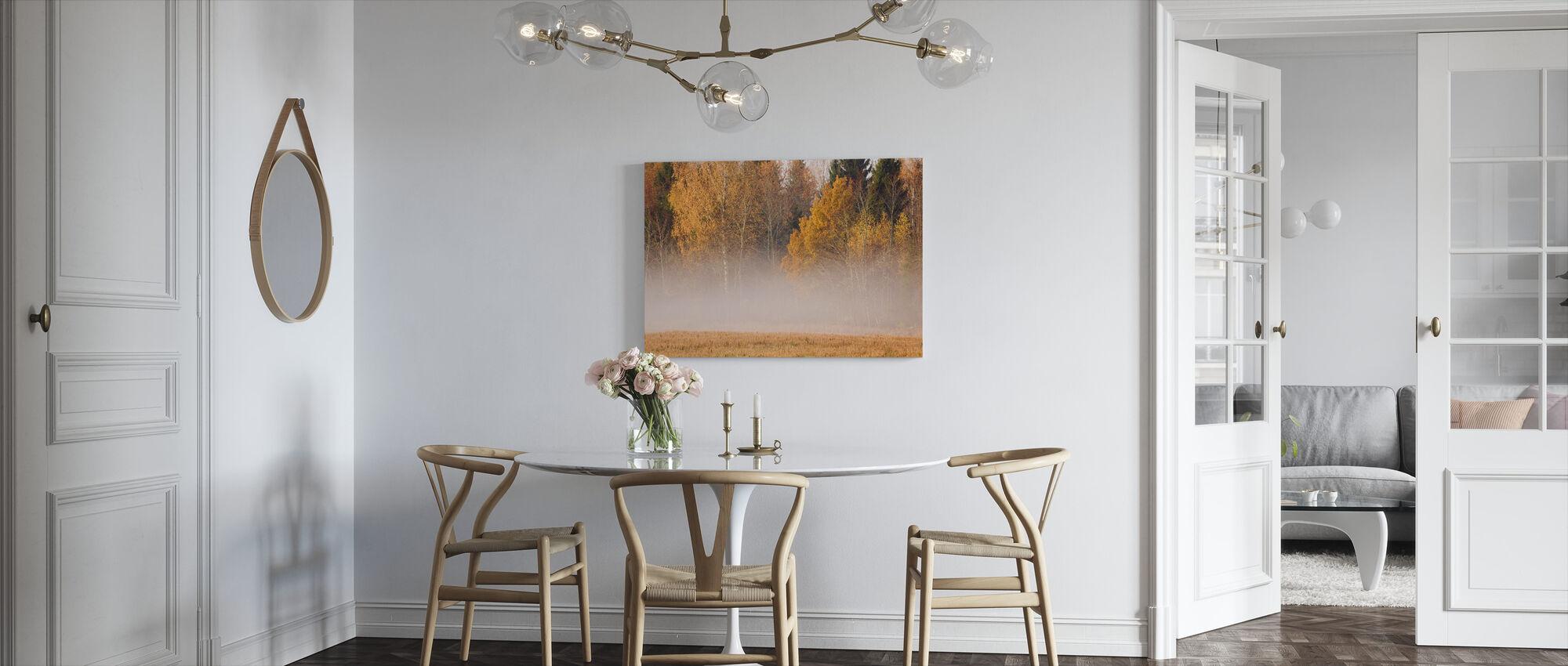 Mist en herfst kleuren - Canvas print - Keuken