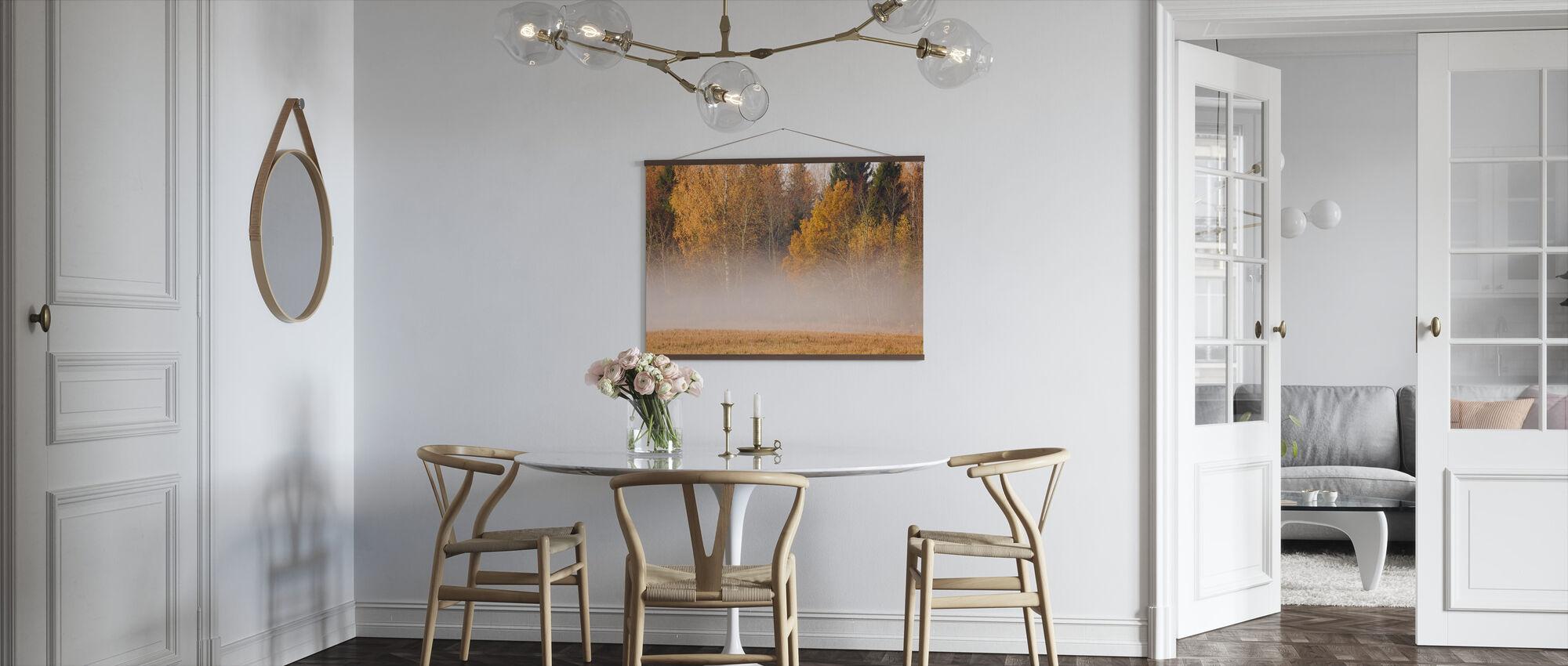 Mist en herfst kleuren - Poster - Keuken