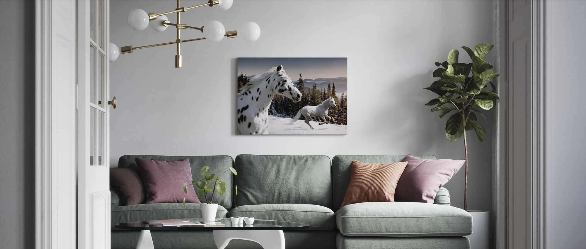 Galopping Winter Wonderland - Canvas print - Living Room