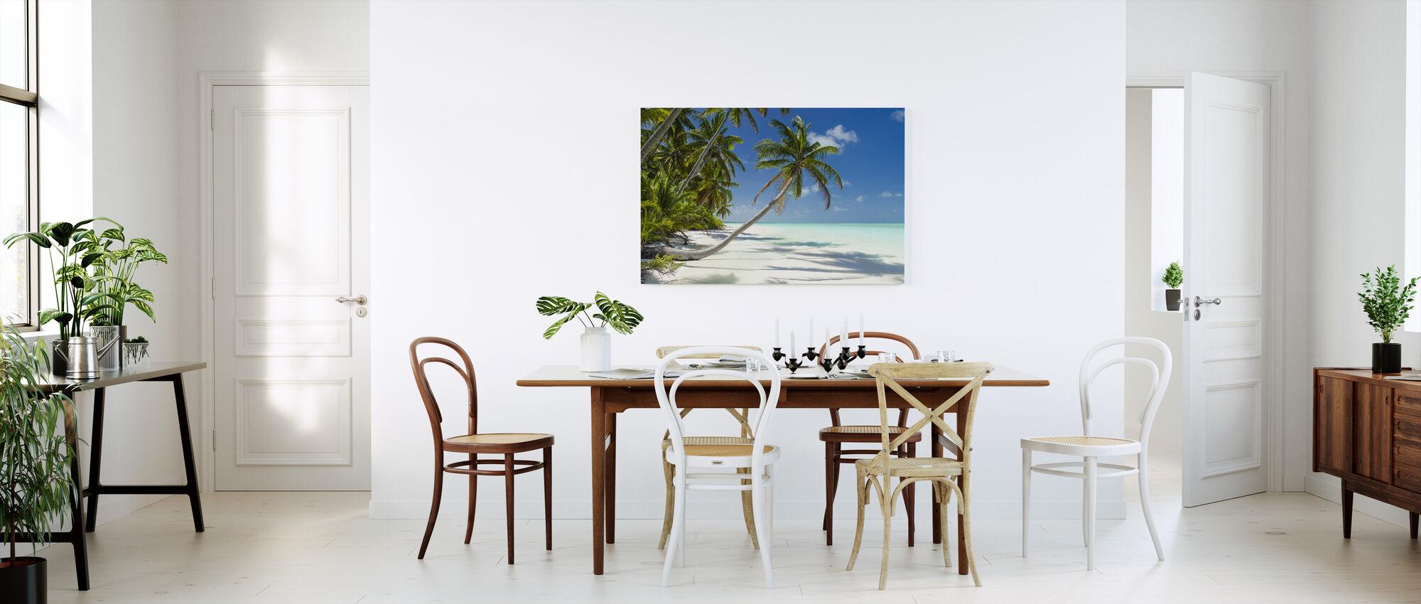Lagune og palmer - Billede på lærred - Køkken